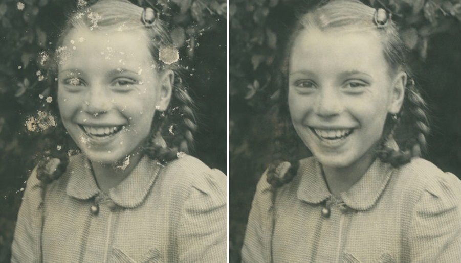before-and-after photo restoration